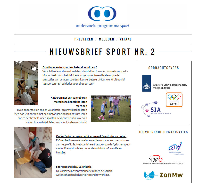 Nieuwsbrief Sport Nr. 2