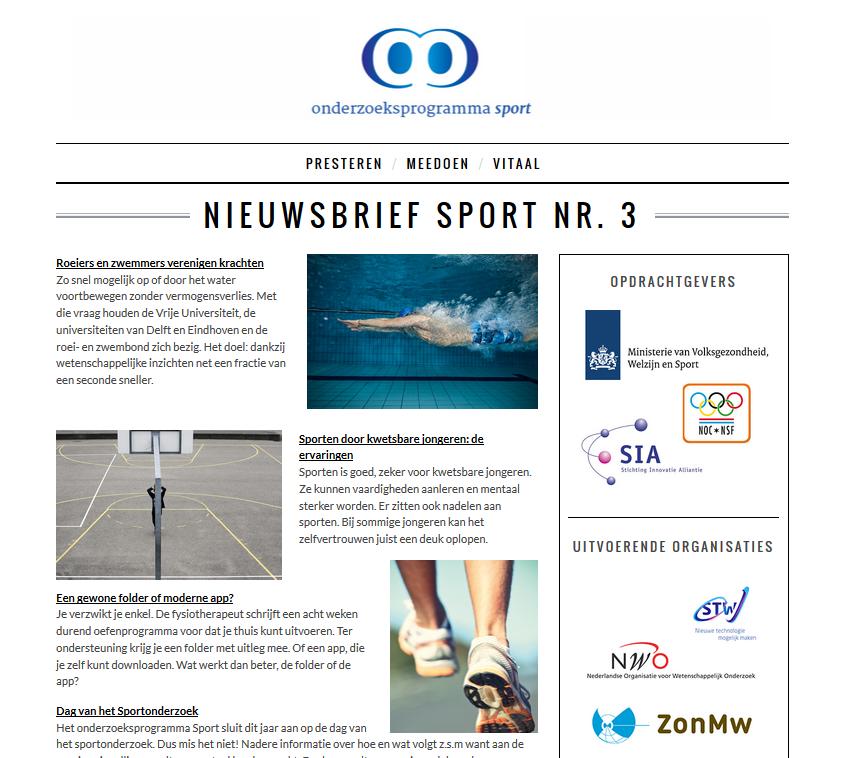 Nieuwsbrief Sport Nr. 3