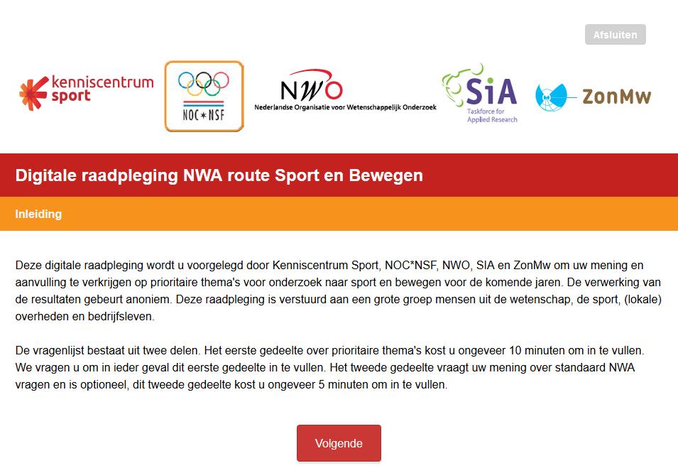 Raadpleging NWA route