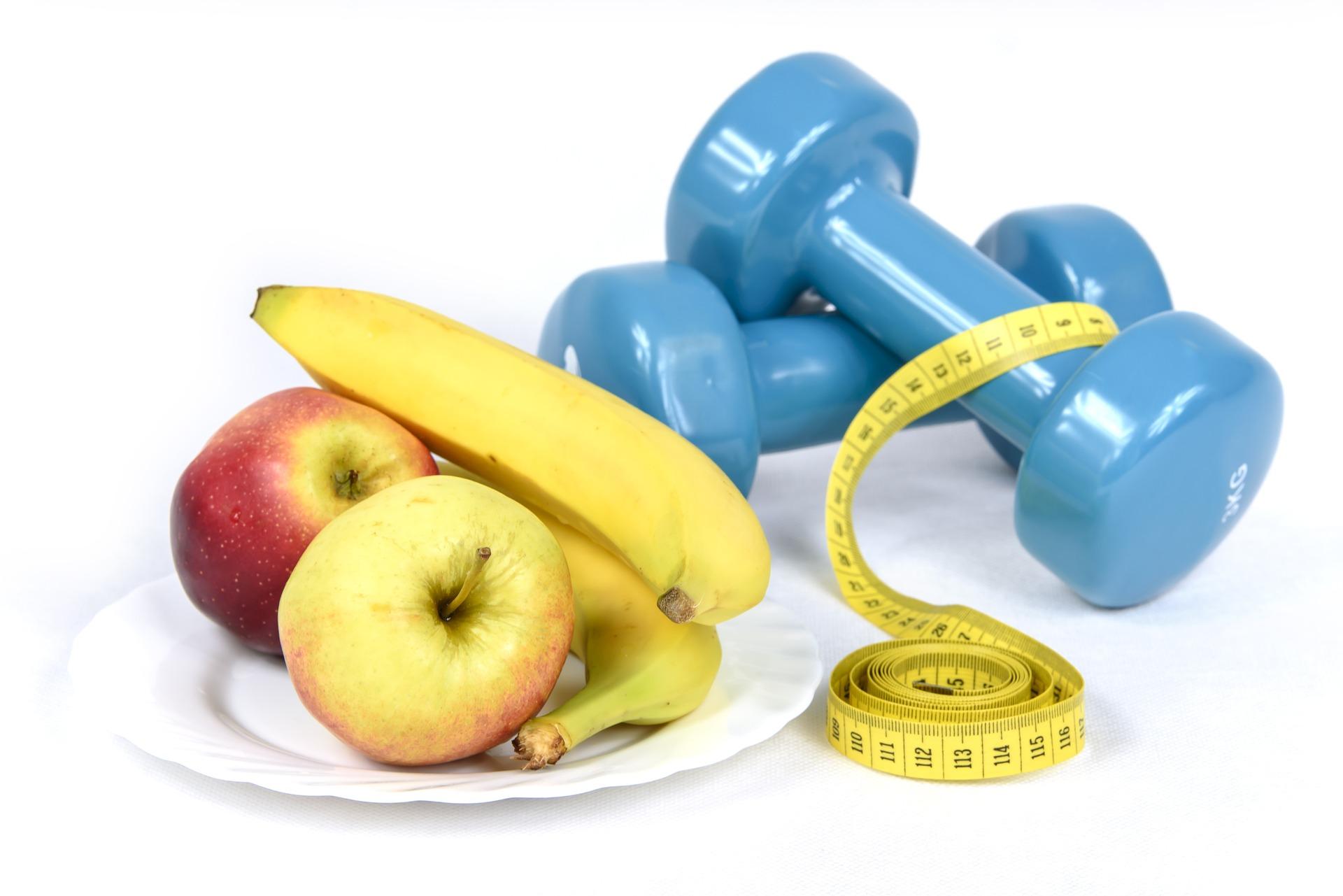 Gewichten en voedsel