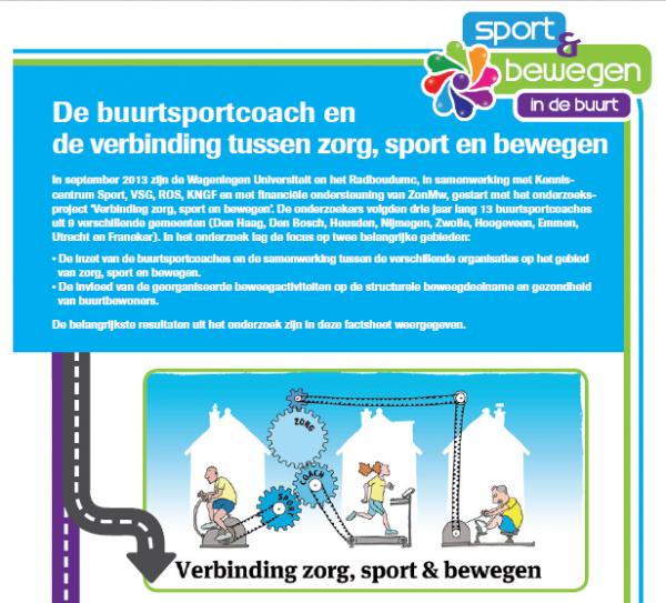 Factsheet Verbinding tussen zorg, sport en bewegen